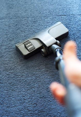 carpet clean: Cleaning of a laminate by a vacuum cleaner. Action from the first person