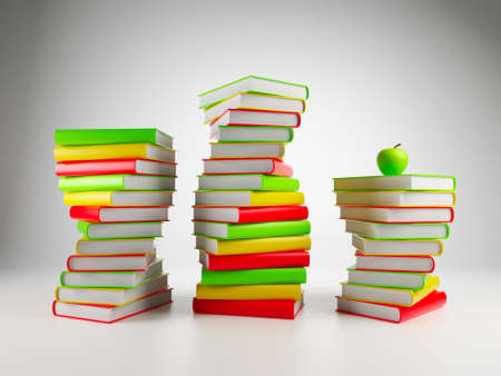 Books. 3d Illustration on a white background illustration