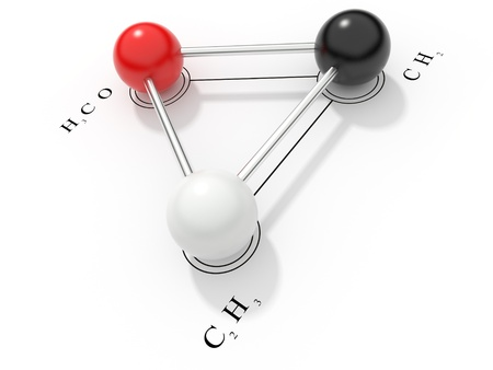 Chemical formula 3D. render, isolated. photo