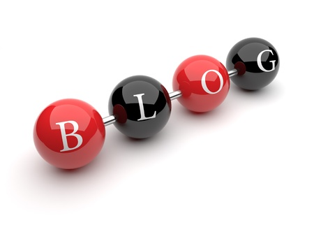 posts: Symbols. Letters in cubes. Text BLOG