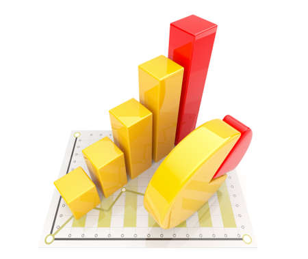 levy: Business diagram 3d. graph Isolated  Stock Photo