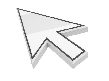 cursor mouse   3d illustration, on background white Stock Illustration - 12780327
