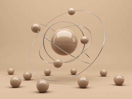 individuality: Spheres 3d  Interaction concept  Abstract background  Render
