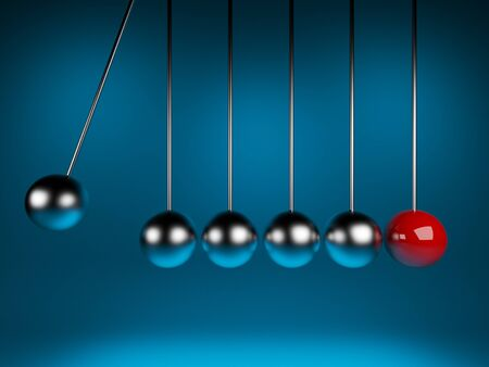 newton cradle 3d balancing  pendulum Stock Photo - 12780383