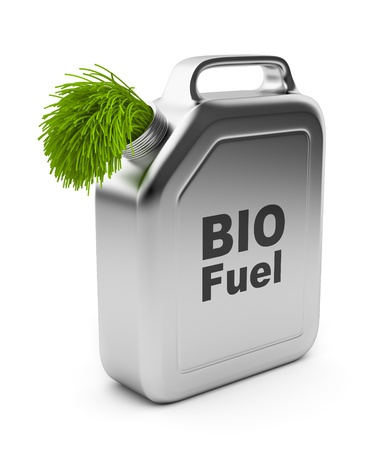 Canister with BIO fuel 3D   Alternative energy  Isolated on white background photo