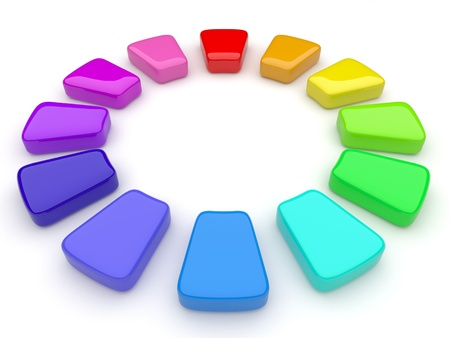 Color palette in the form of a circle. 3d Stock Photo - 12780422