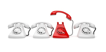 calling on phone: Phone call 3D. Business concept. Isolated on white background Stock Photo
