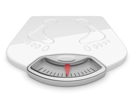 scale weight: White scale on isolated background. 3d illustration