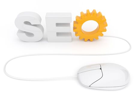 SEO optimization. 3D illustration. Isolated on a white background Stock Illustration - 12780459