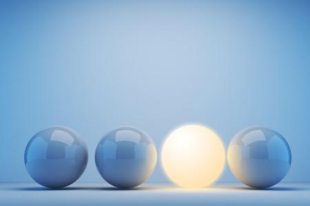 Lichtgevende bol. Innovation concept. 3d illustratie