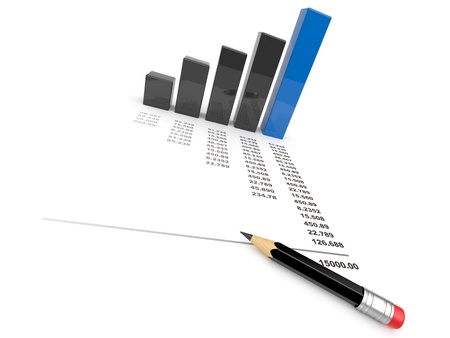imposition: Business diagram 3d. graph Isolated  Stock Photo