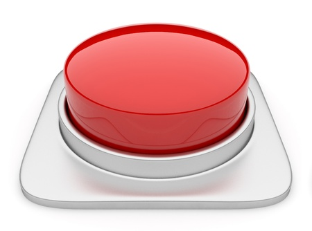stop button: Red button 3d  Icon isolated