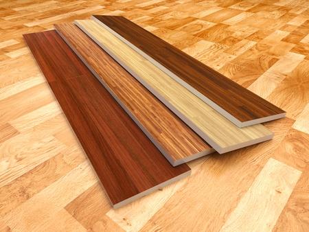 Wood floor  3D illustration, color - brown illustration