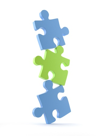 conundrum: Puzzle on a white background  3D Stock Photo