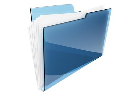 carpeta: Carpeta del directorio de archivos 3D - icono Foto de archivo