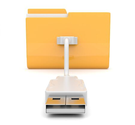 Folder 3d icon  USB onnect  photo