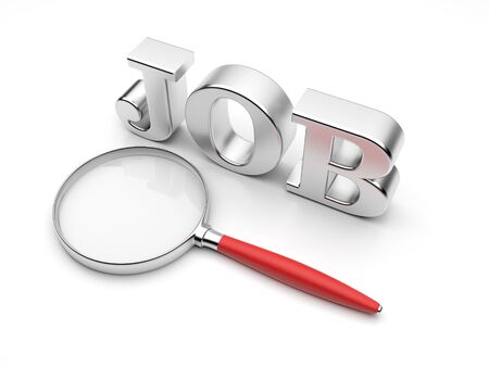 job icon: Search of work. 3D Illustration