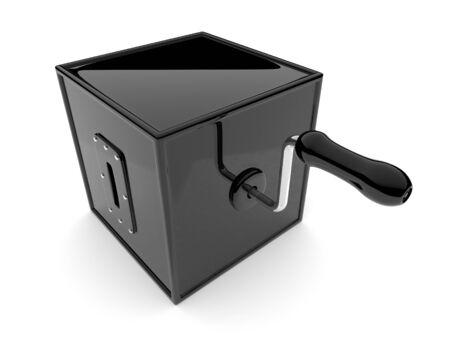 magic box: Barrel organ. 3d illustration on white background Stock Photo