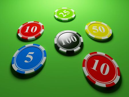 Casino chips. 3d an illustration illustration