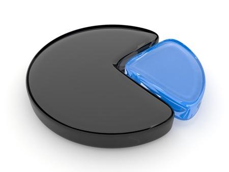 Cake diagram 3D, on isolated background  photo