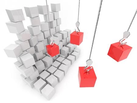change business: Warehouse. 3D Illustration, on white background