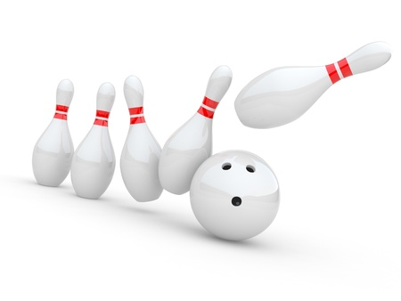 Bowling. 3D illustration on white background illustration