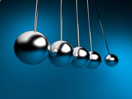 continuity: newton cradle 3d balancing  pendulum
