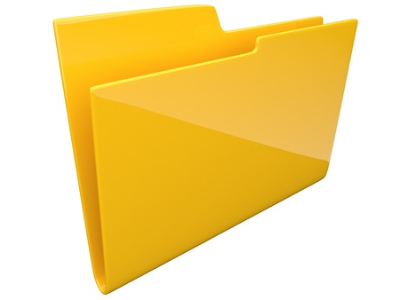 Folder  Directory  empty 3D -  isolated photo