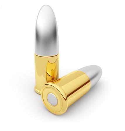 ammunition: Bullets  Cartridge  3D illustration