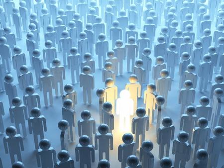 individualism: Luminous person. Symbol of individualism Stock Photo