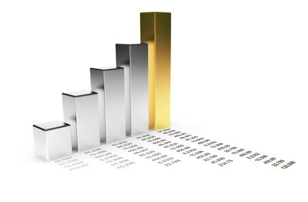 impost: Business diagram 3d. graph Isolated  Stock Photo
