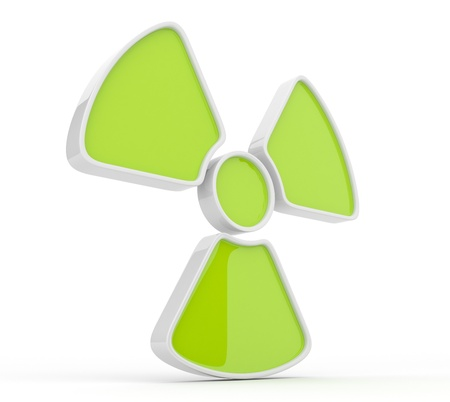 Sign of radiation. 3d icon, isolated photo