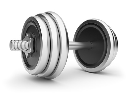 weightlifting: Dumbbell ,3D illustration. Isolated on white background