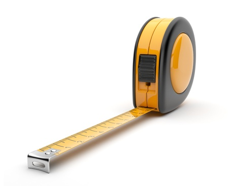 Tape measure 3D  Construction tool  Icon isolated on white background