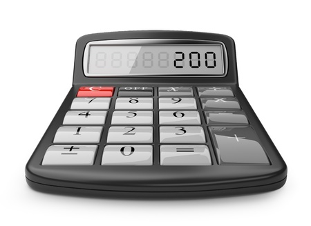 Calculator 3D  Science object  Isolated on white background