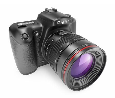 Digital photo camera. 3D Icon isolated on white background