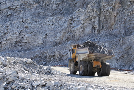 quarries: Truck of mining in open cast  Minerals industry