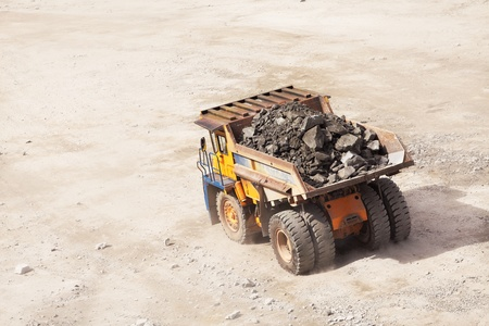 Truck of mining in open cast  Minerals industry Stock Photo - 14589963