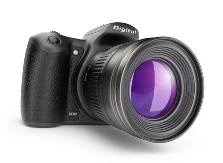 Digital photo camera  3D Icon isolated on white background Archivio Fotografico