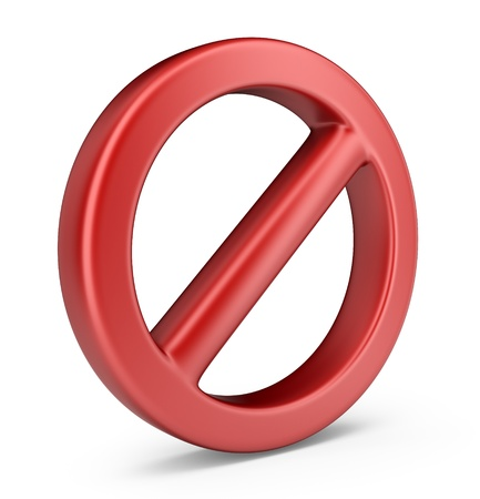 denial: Stop symbol  3D Icon isolated on white background