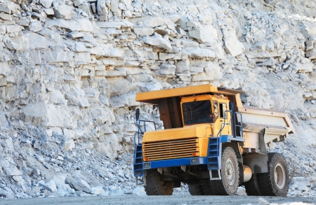 haul: Truck of mining in open cast  Minerals industry