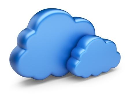 bulut: Cloud computing 3D Simge beyaz zemin üzerine izole
