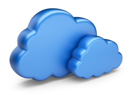 Cloud computing  3D Icon isolated on white background