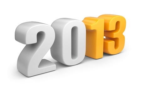 Happy new year 2013  3D calendar isolated on white Stock Photo - 16400310