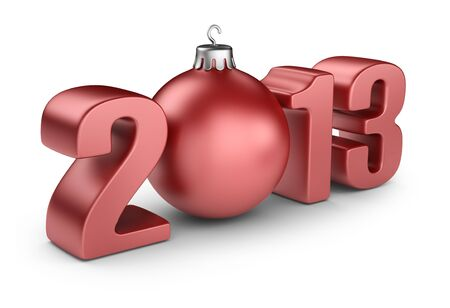 Happy new year 2013  3D calendar isolated on white photo