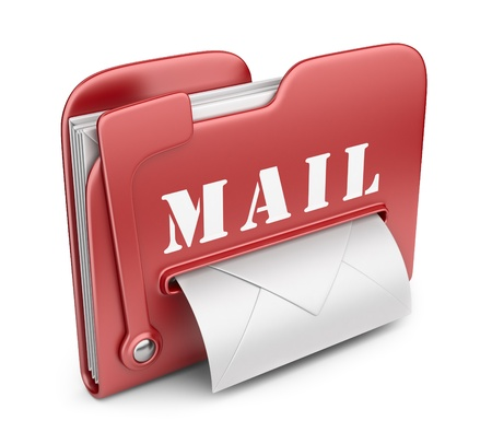 file box: Folder is similar to mail box  Email concept  3D icon isolated Stock Photo