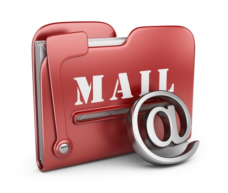 Folder is similar to mail box  Email concept  3D icon isolated Stock Photo - 16691287