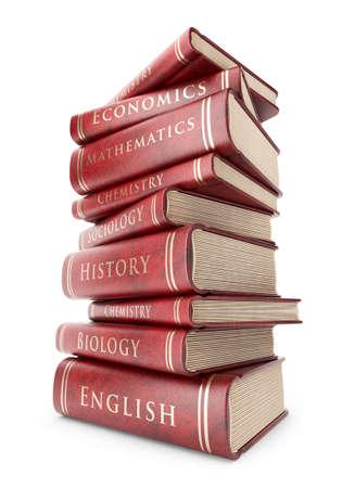 soumis: Grosse pile de livres. Education concept. 3D icône isolé