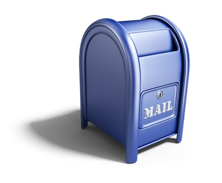 Blue mail box photo