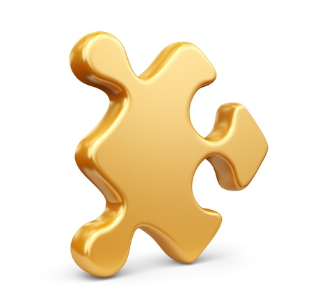 Single jigsaw puzzle piece photo